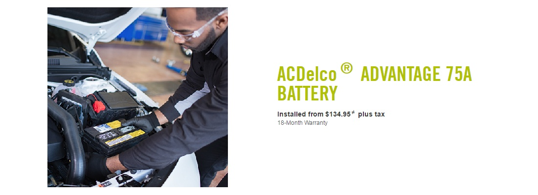 ACDelco Advantage 75A Battery Starting From $134.95 Installed
