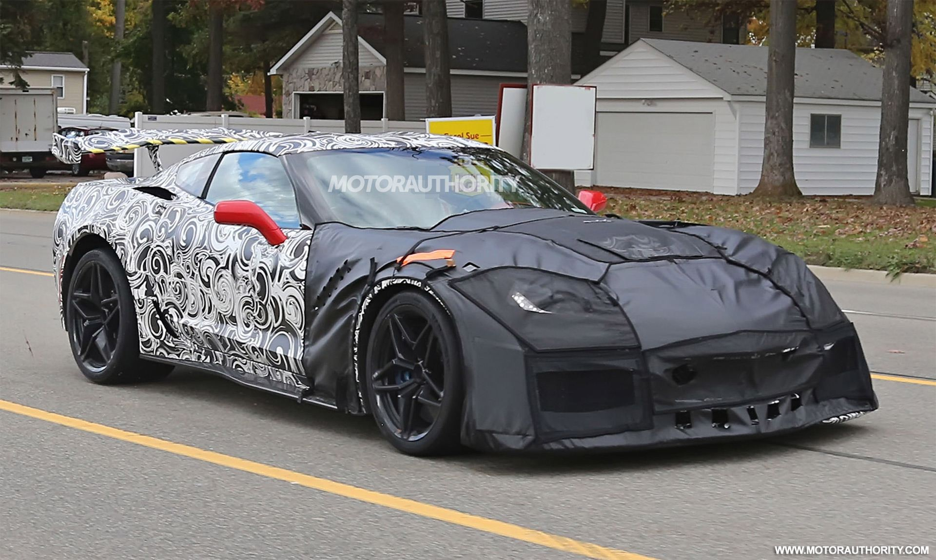 2018 Chevrolet Corvette ZR1 Spy Photo Via MotorAuthority.com