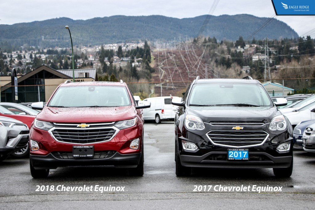 Comparison 2018 Chevrolet Equinox Vs 2017 Chevrolet