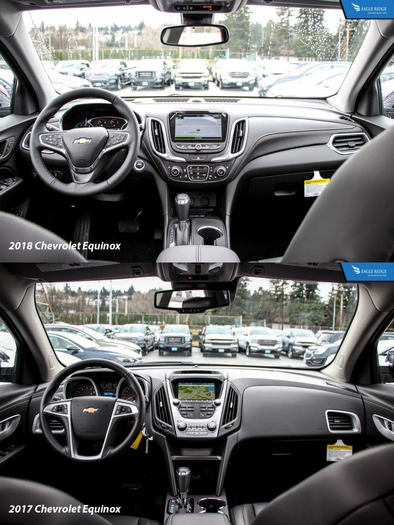 Used Chevy Equinox >> COMPARISON: 2018 CHEVROLET EQUINOX VS 2017 CHEVROLET EQUINOX - Eagle Ridge GM