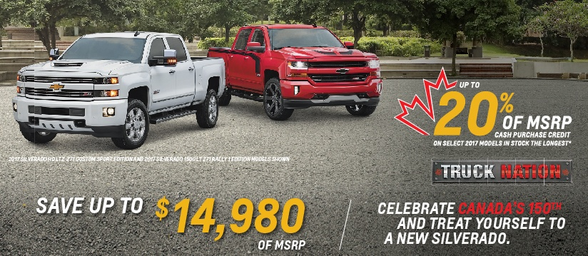 up to 20% of MSRP – Trucks