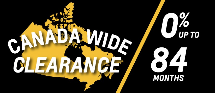 Canada Wide Clearance – 0% up to 84 Months
