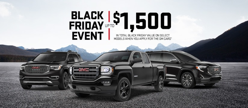 black friday GMC