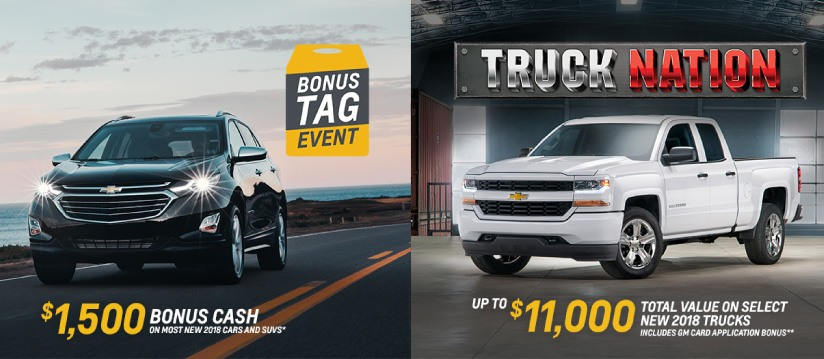 Chevrolet Bonus Tag Event