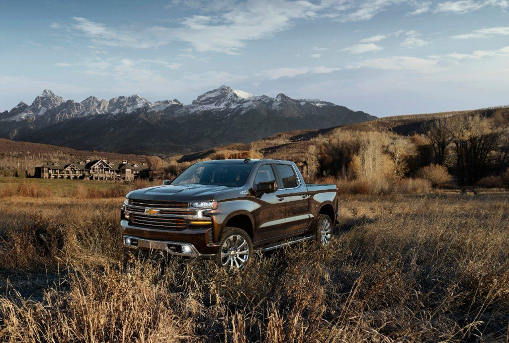 The all-new 2019 Silverado High Country features an exclusive fr