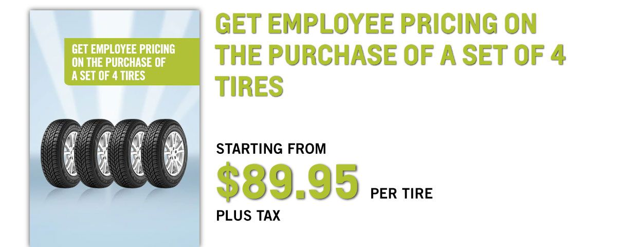employee price on tires