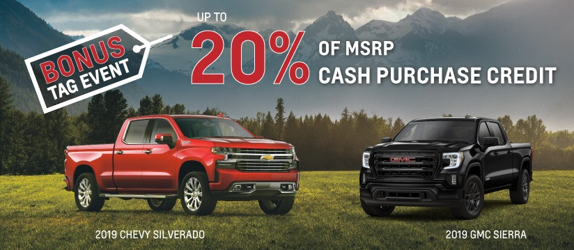 20% of MSRP Cash Credits