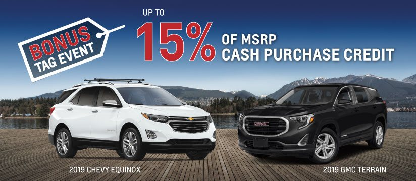 15% OF MSRP Cash Credits