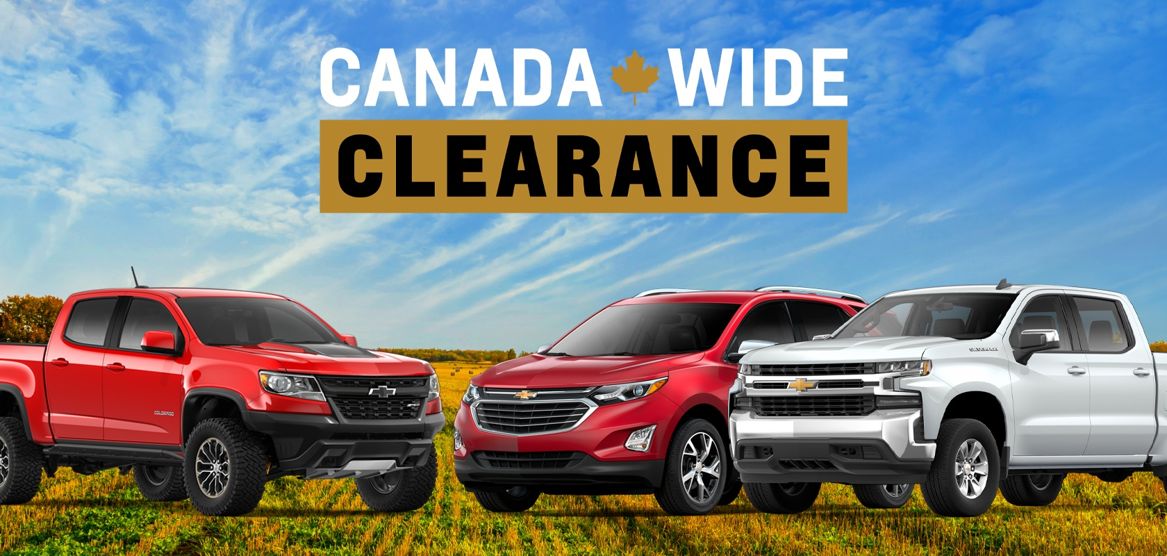 Canada Wide Clearance on Chevrolet
