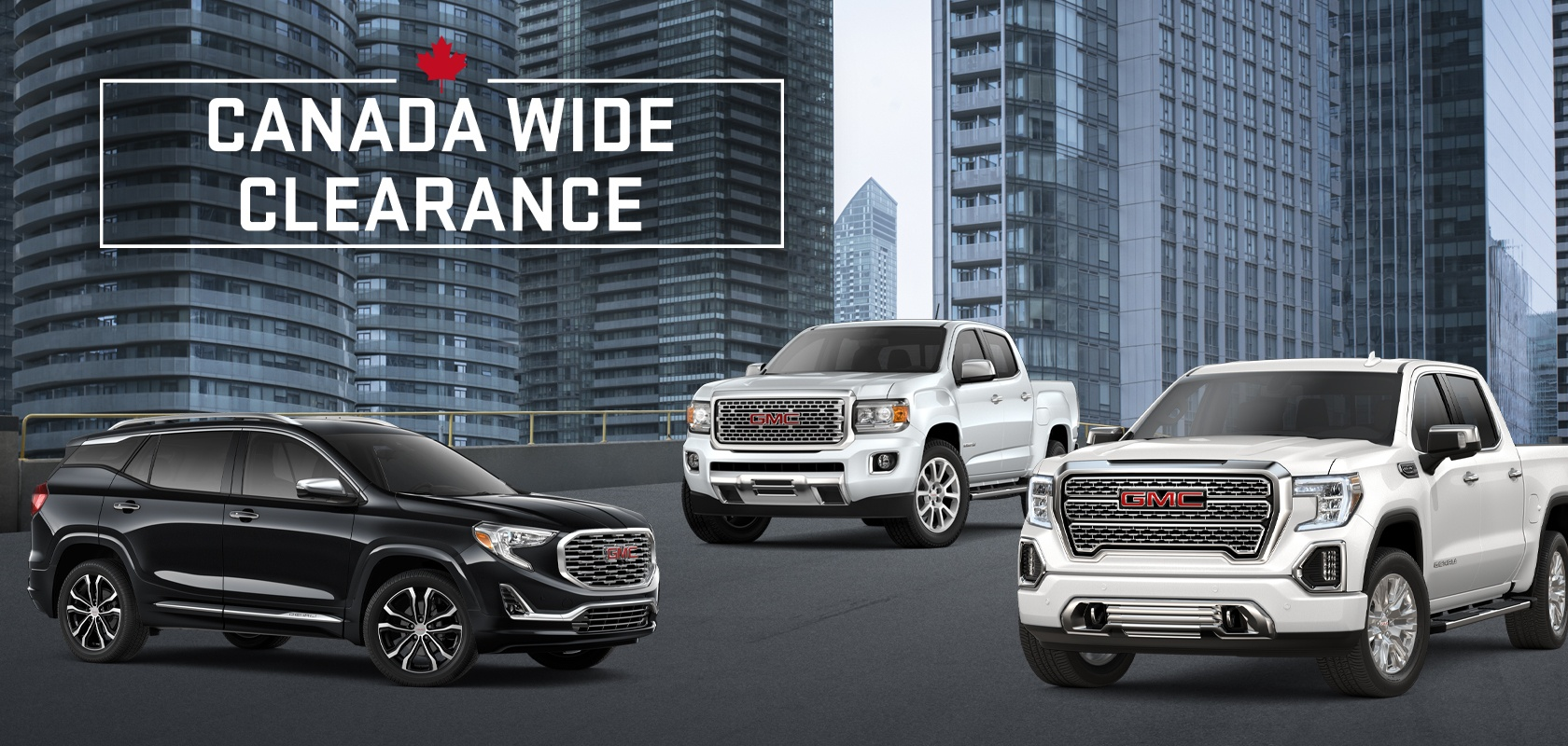 Canada Wide Clearance on GMC