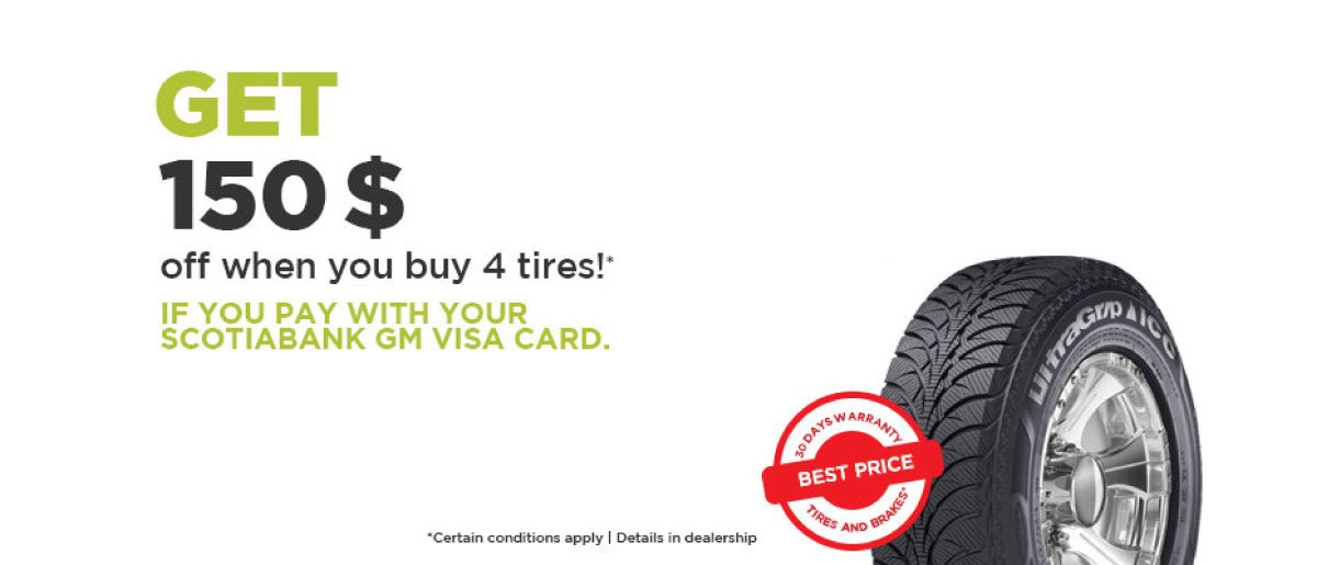 Save on Tires with Your GM VISA