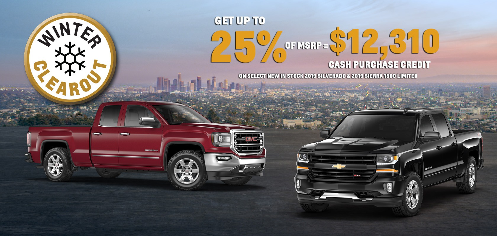 Get Up To 25% of MSRP on Select 2019 Sierra Limited & Silverado LD
