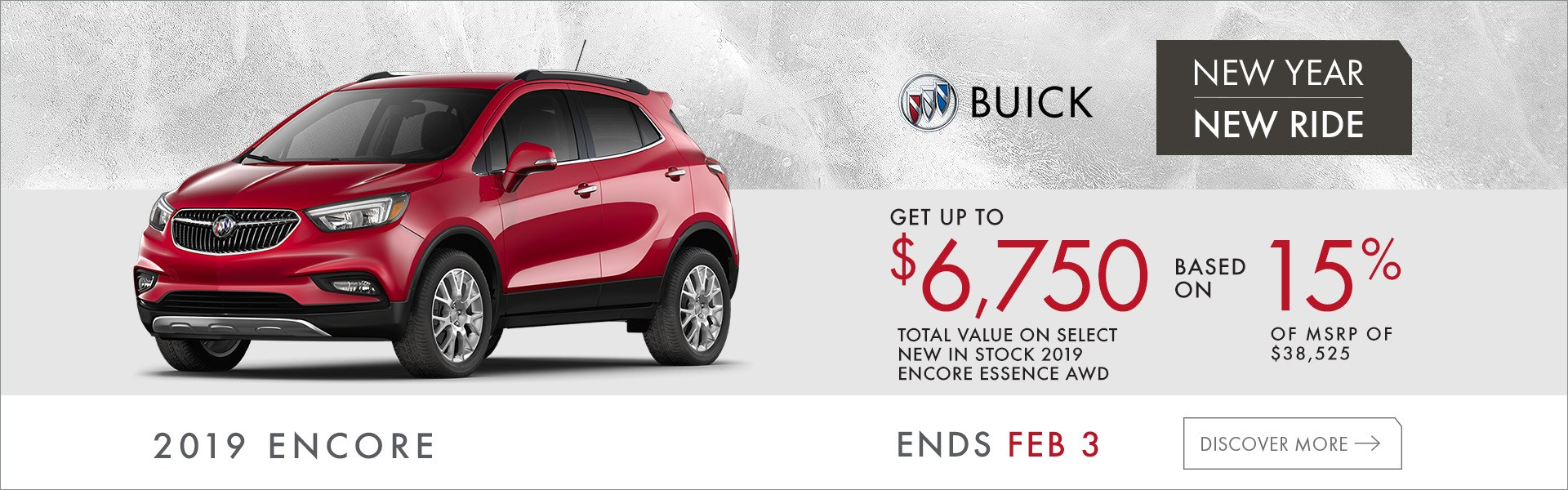 15% Off MSRP on 2019 Buick Encore
