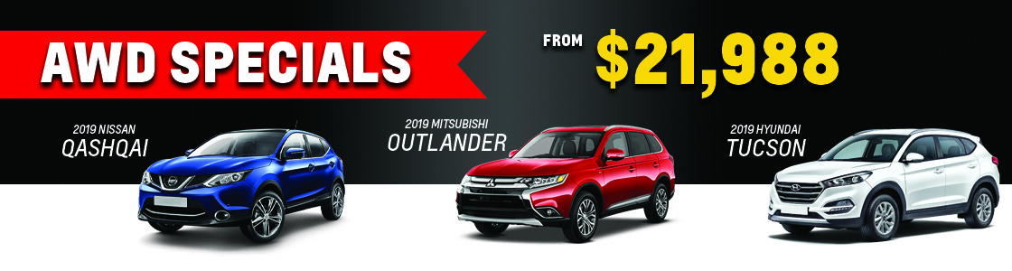 AWD SUVs from $21,988