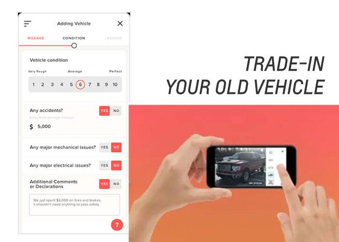 trade in your old vehicle