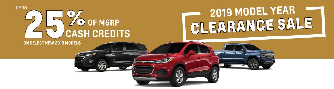 2019 Model Year Clearance Sale