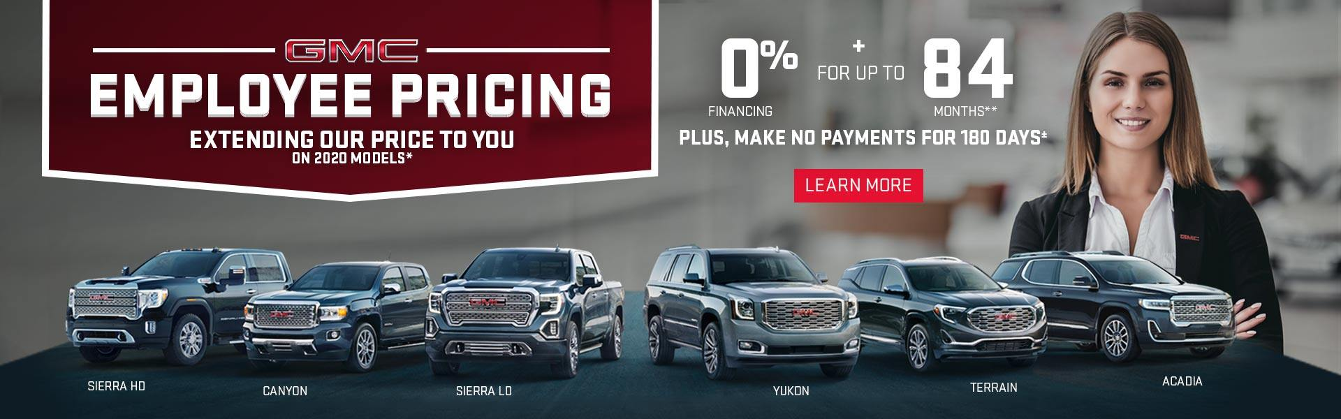 Employee Pricing on GMC Vehicles