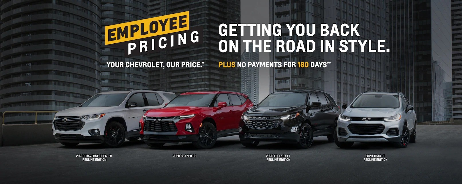 Employee Pricing on Chevrolet Vehicles