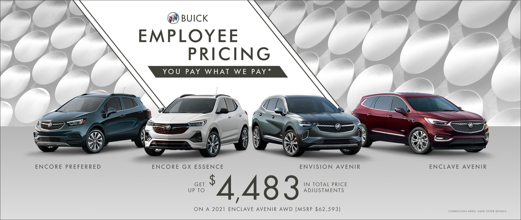 Employee Pricing – Buick Family