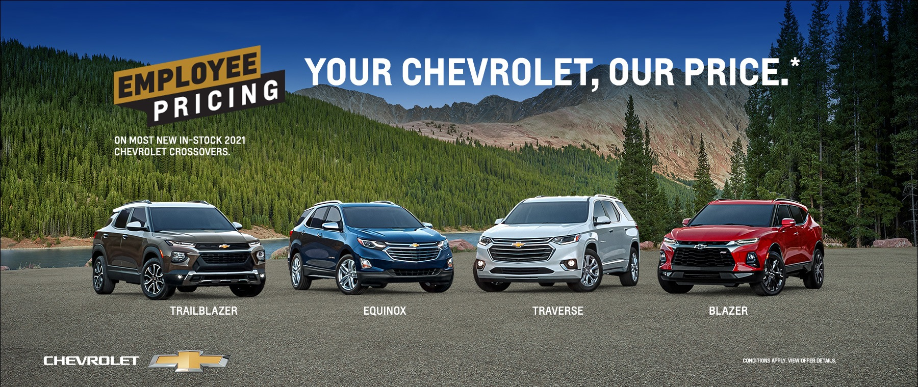 Employee Pricing – Your Chevrolet, Our Price