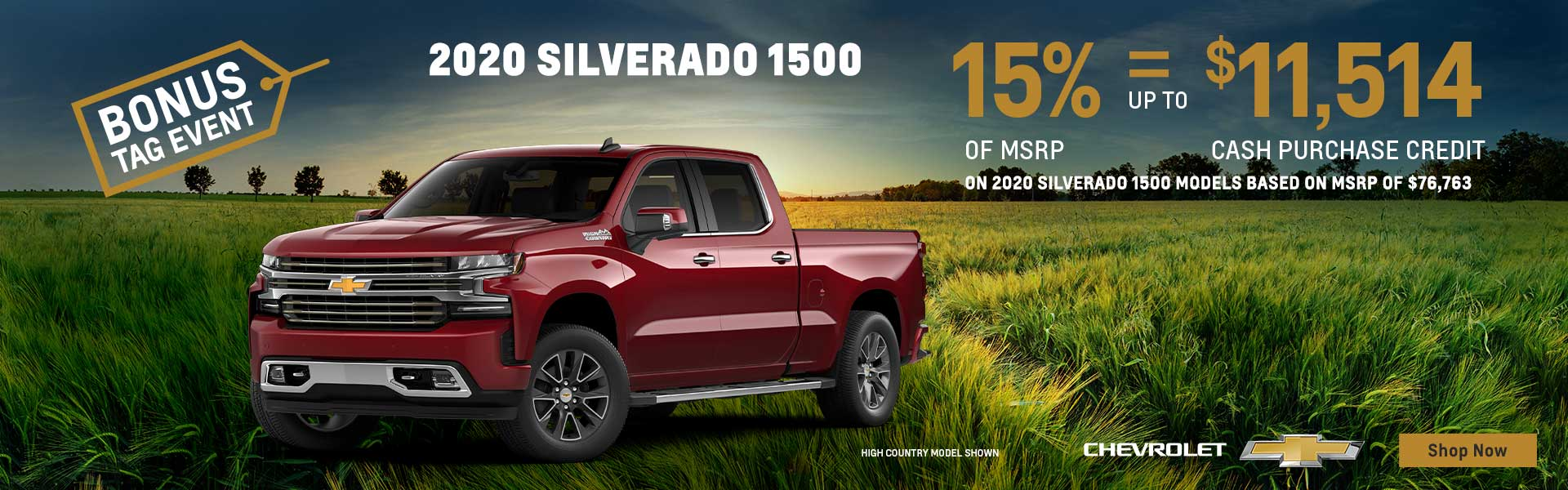 Bonus Tag Event on Chevrolet Silverado 1500