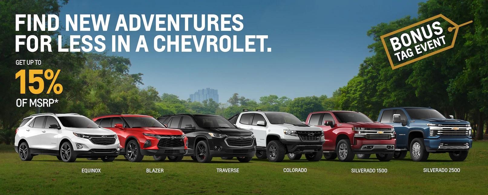Bonus Tag Event on Chevrolet Vehicles