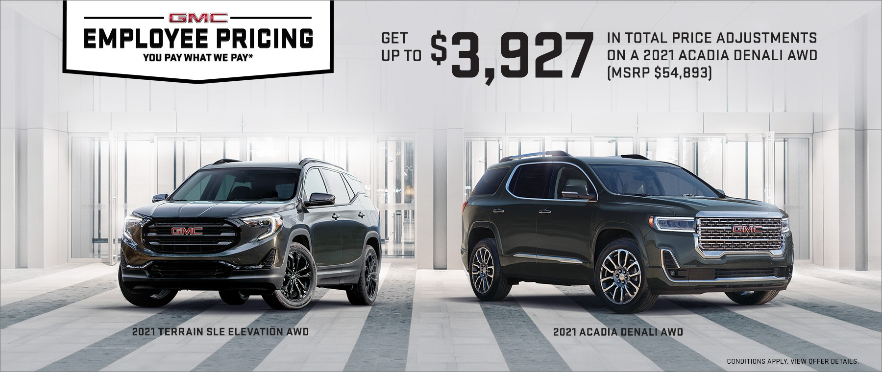 Employee Pricing – 2021 GMC Family