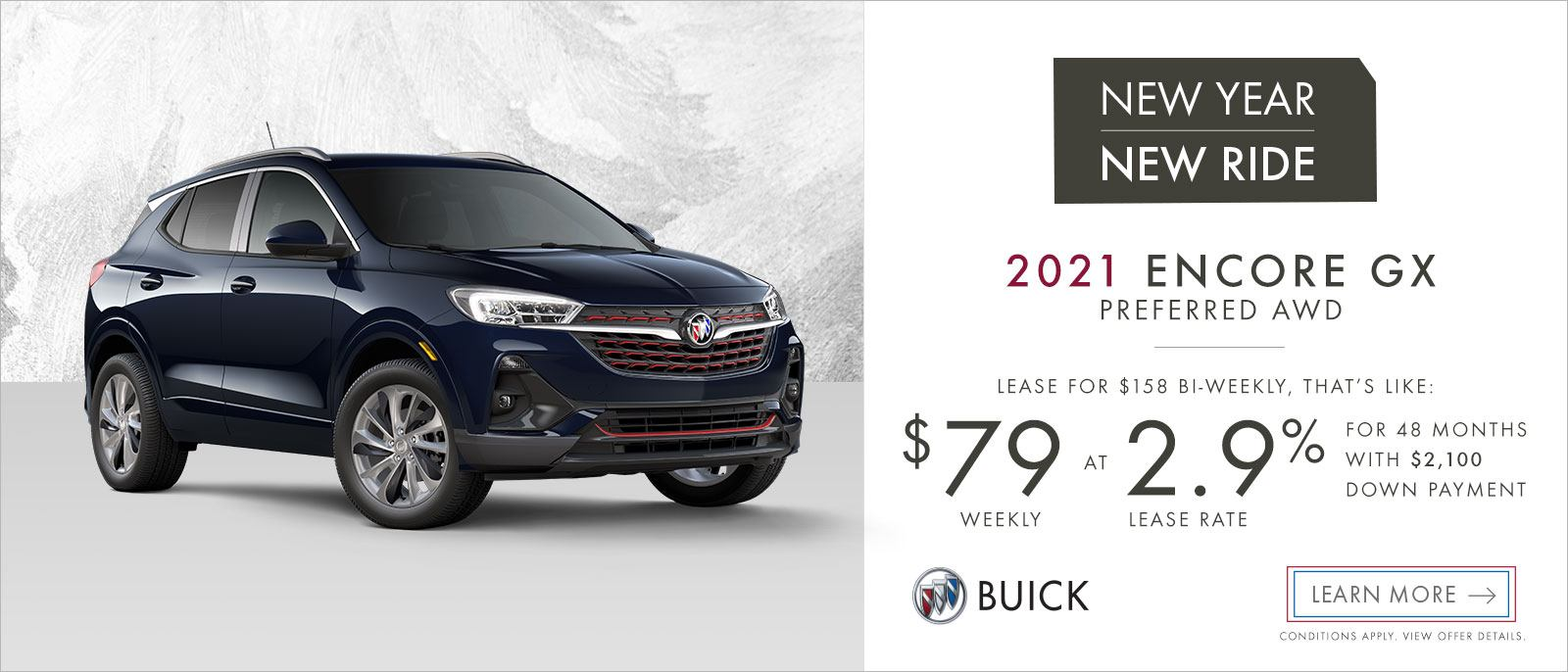 New Year New Ride 2021 Buick Encore GX