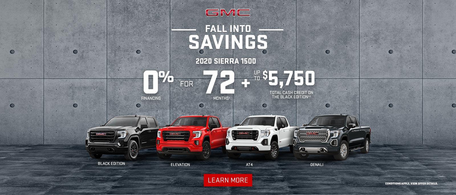 Fall Into Savings on GMC Vehicles