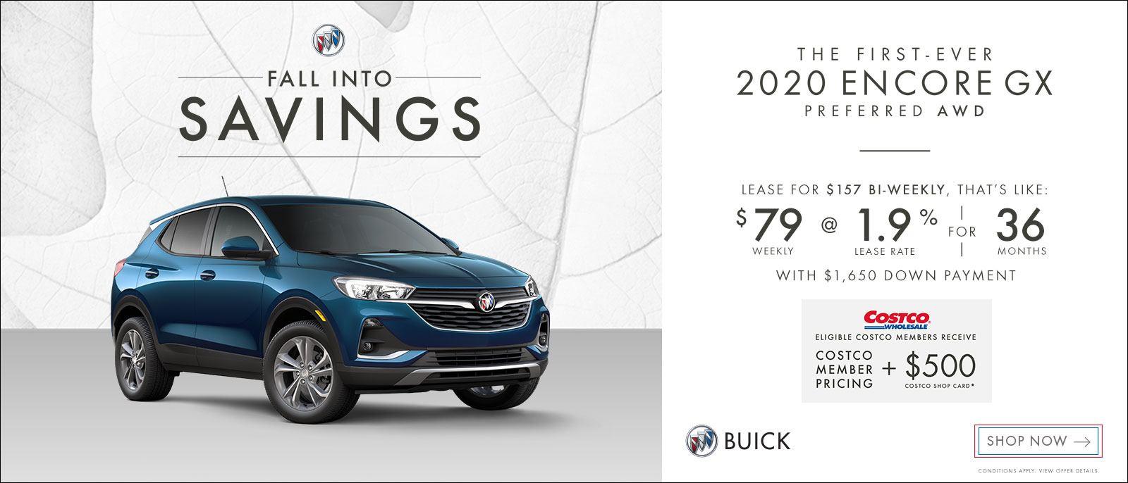 Fall Into Savings on Buick Encore GX