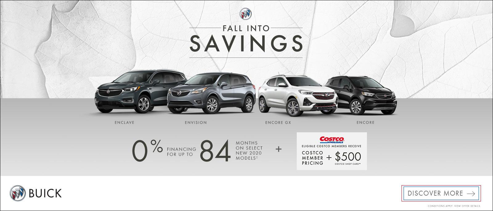 Fall Into Savings on Buick Vehicles