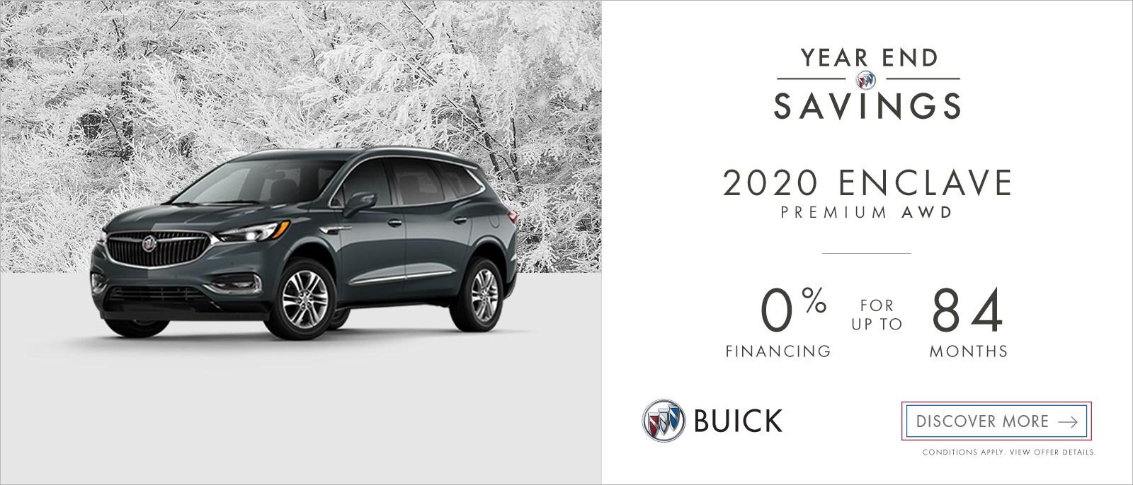 Year End Savings – 2020 Buick Enclave Premium AWD