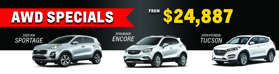 AWD SUVs from $24,887
