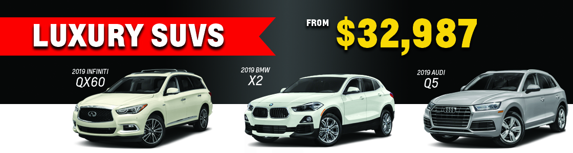 Luxury SUVs from $34,988