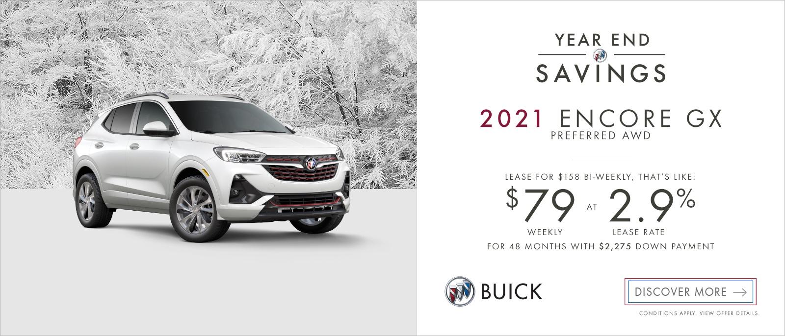 Year End Savings – 2021 Buick Encore GX Preferred AWD