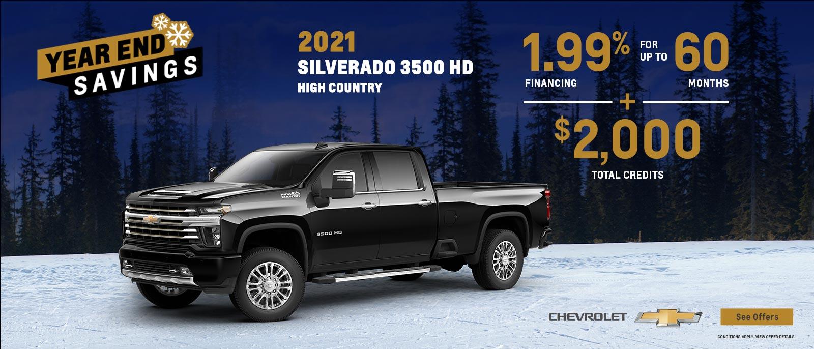 2021 Silverado 3500 HD High Country