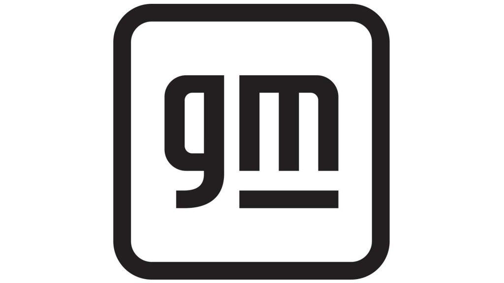 New GM logo black
