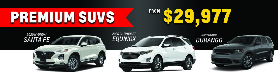 Premium SUVs from $29,977
