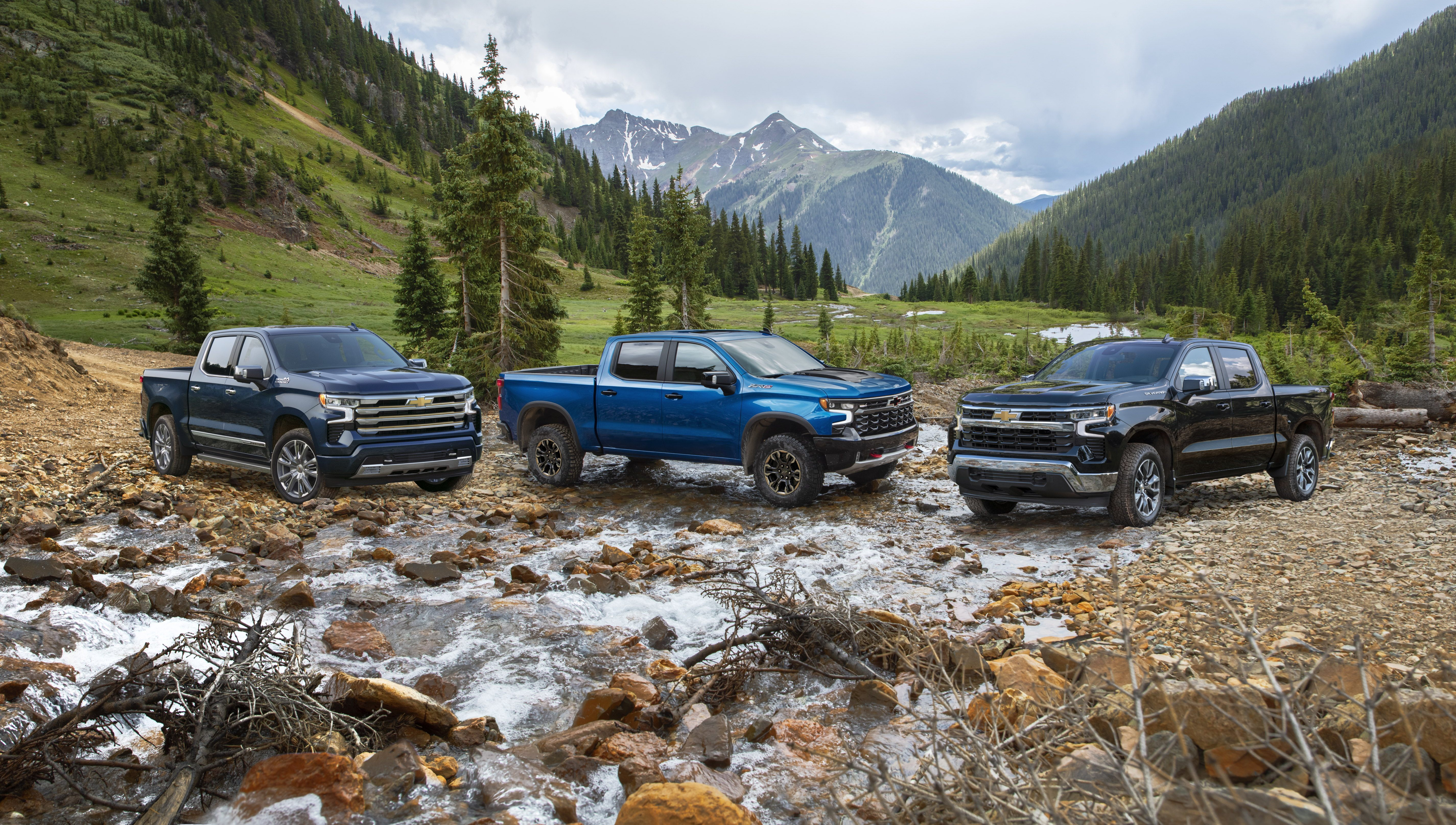 The 2022 Chevrolet Silverado High Country, ZR2 and LT