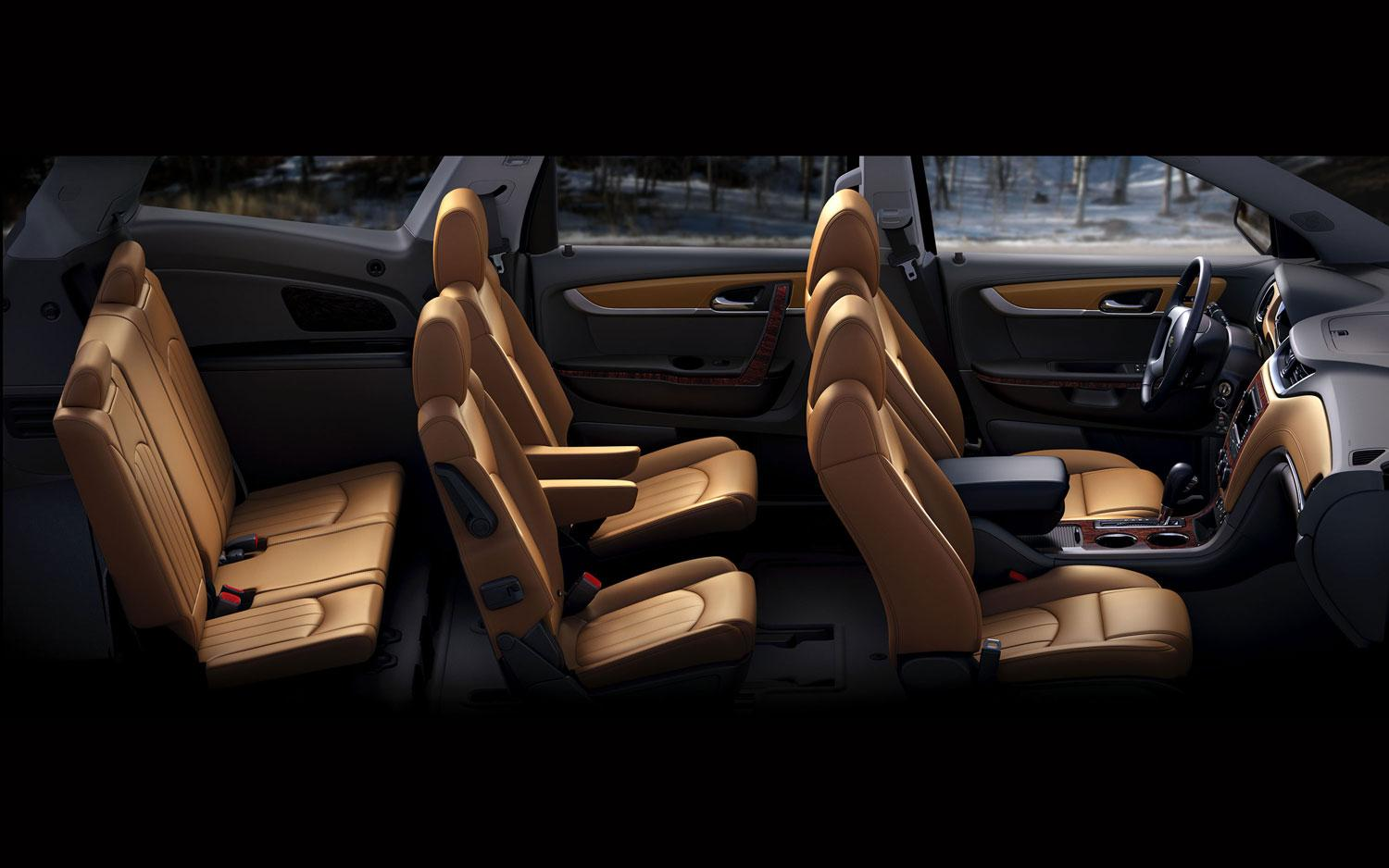 Interior of the Chevy Traverse