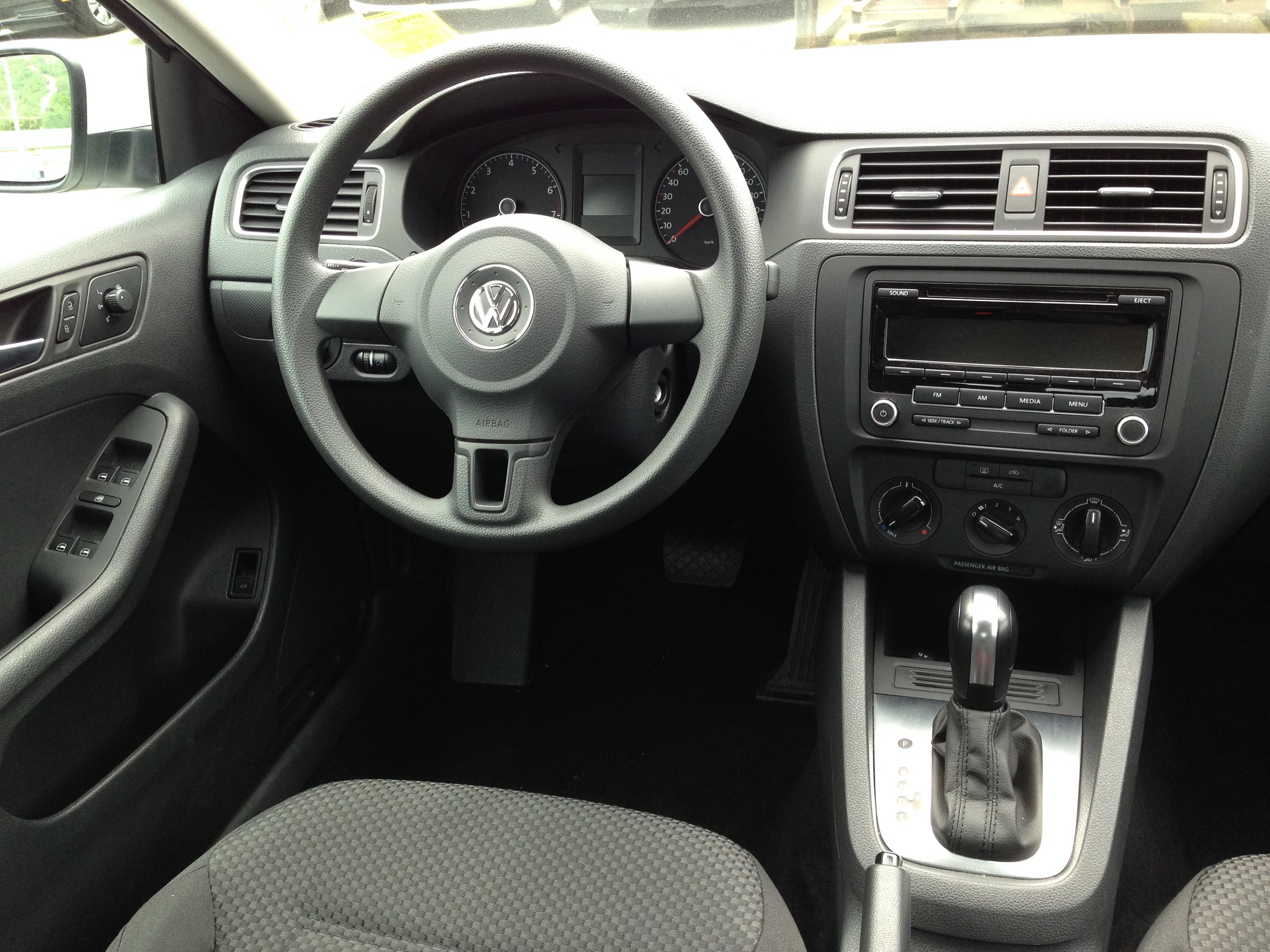 Interior of the VW Jetta