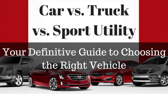 Car vs. Truck vs. Sport Utility